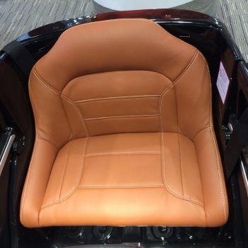 Электромобиль Mercedes-Benz ML 63 AMG белый (резиновые колеса, кожа, пульт, музыка)