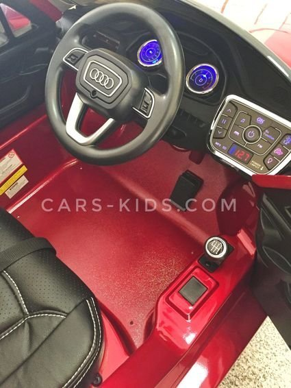 Электромобиль Audi Q7 QUATTRO LUX (резиновые колеса, кожа, пульт, музыка, ГЛЯНЦЕВАЯ ПОКРАСКА)