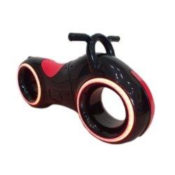 Беговел Star One Scooter - DB002 черно-красный (устойчивые колеса, подсветка, музыка)